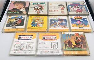Lot 11 Famicom Disk System Mario Golf / Tobidase / Mahjong /  US Seller