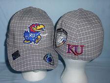 KANSAS JAYHAWKS  Plaidee One-Fit CAP/HAT T.O.W. One Size Fits All NWT $28 retail