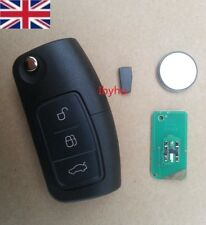 Ford Mondeo Focus Cmax Galaxy 433 MHZ 3 Button Remote Flip Key Fob+ Blade+ Logo