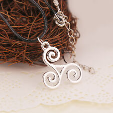 1pc Silver Triskele Triskelion Allison Argent Teen Wolf Pendant Necklace