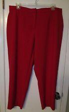 BEAUTIFUL ELLEN TRACY RUBY RED SLIM ANKLE DRESS PANTS~SZ 18W~NWTGS RETAIL $89.50