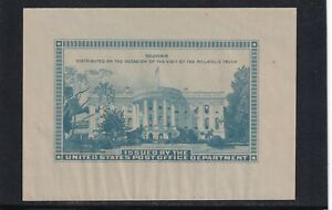US STAMP SOUVENIR SHEET VISIT OF THE PHILATELIC TRUCK WHITE HOUSE crease