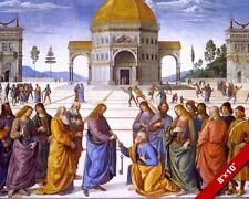 CHRIST GIVING KEYS TO PETER PAINTING CHRISTIAN BIBLE HISTORY ART CANVAS PRINT