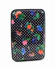 Aluminium Wallet Credit Card Holder with RFID Protection - Flower