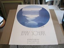 "JERRY SCHURR, Kenneth Behm Galleries,""Point Lobos"" signed poster 26 x 36"""