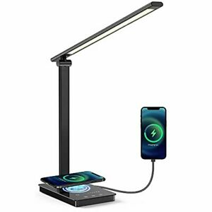 Led Desk Lamp Wireless Charger USB Charging Port Foldable Read Eye-Caring Table