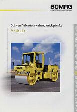 Prospekt Bomag schwere Vibrationswalzen knickgelenkt 9--12t 11/00 2000 Broschüre