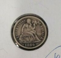 1889 Liberty Seated Silver Dime
