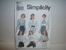 VTG1993 Simplicity #8557 Pattern Blouse with Detachable Jabots Size 12-16 UnCut