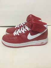 Nike Air Force 1 Mid Mens Basketball Shoes Sz 10.5 Soort Red White
