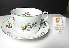 Tiffany & Co China, Limoges, TIFFANY GARDEN Cup and Saucer(s) Mint