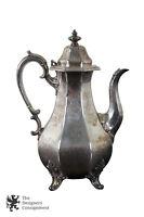 Antique T & J Creswick Sheffield England Silverplate Teapot Repoussé Griffon