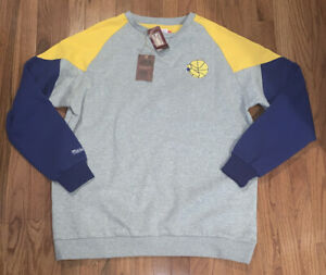 Golden State Warriors Mitchell & Ness Trading Block Crew Sweatshirt 2XLT NWT $80