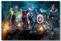 "The Avengers Movie 1 2  Iron Man Art Wall Cloth Poster  36x24"" Print 504"
