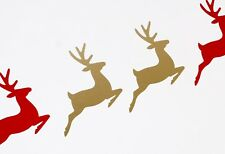 Reindeer Christmas Wall Art Vinyl Decals/Stickers - various colours / sizes xmas