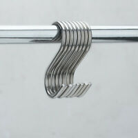 10Pcs S Shaped Hanging Hooks Stainless Steel for Kitchen Bathroom Bedroom