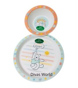 Disney Winnie The Pooh Plate & Cereal Bowl Lunch Dinner Breakfast Gift Set New