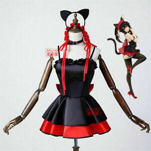 Anime Date A Live Tokisaki Kurumi Cat Suit Cosplay Costume Sexy Halloween Dres &
