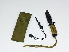 "7"" Defender 5738 Tanto HUNTING KNIFE Firestarter Fixed Blade Green"