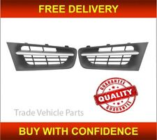 Renault Megane Saloon 2006-2009 Front Bumper Grille Pair With Chrome Trim New