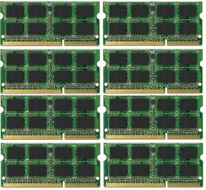 BULK LOT! 64GB (8x8GB) Memory PC3-10600 DDR3-1333MHz SODIMM DELL Latitude E6320