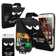 for Motorola Moto G5 Plus - impreso con clip Funda Flip De Cuero Artificial