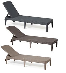 Lounger Sun Garden Recliner Rattan Style Elegant Weather & UV & Water Resistant