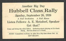 DATED 1926 PC ROCHESTER NY HUBBELL CLASS RALLY W/A E METZDORF SPEAKER