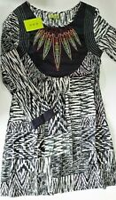 HHG  Cotton Dress Long sleeves Size Small tribal style