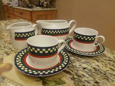 6 pcs  International Tableworks Bob Timberlake Ella's Rooster GRAVY CREAMER CUPS
