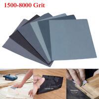 12Pcs Sec et Humide Papier De Verre Papier Abrasif feuilles 1500-8000