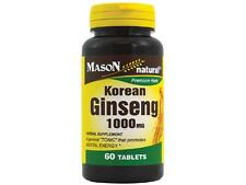 60 TABLETS KOREAN GINSENG 1000mg PANAX ENERGY BOOSTER Sexual Aid