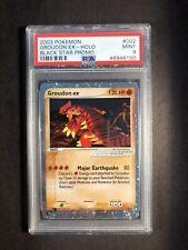 Pokemon PSA 9 Black Star Promo Groudon EX 002 Mint 2003 Nintendo