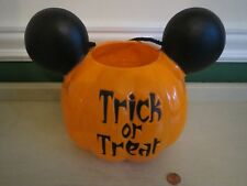 Disney Parks Mickey Mouse Halloween Trick Or Treat Pumpkin Bucket Pail