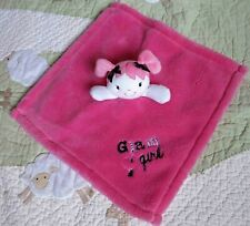 Baby Gear Hot Pink Plush Glam Girl Doll Baby Security Blanket Euc