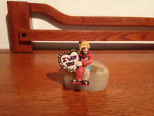"""Ron Lee """"I love you from my heart"""" #360 Vintage & Rare signed 1987 """"I WUV YOU"""""""