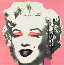 Andy Warhol Marilyn (Announcement) 1981 Hand signed offset lithograph