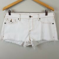 TRUE RELIGION |  Womens Joey cut off Denim shorts NEW [ Size AU 14 or US 32  ]