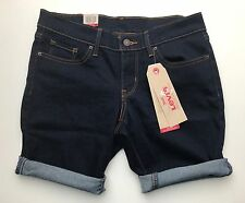 BNWT Levi's Bermuda Stretchable Shape Denim Shorts 24 Guaranteed Original