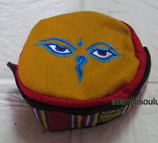 Bordado de ojos C78 Buda Moda Himalaya Algodón Sherpa Redondo Cap Nepal Tíbet