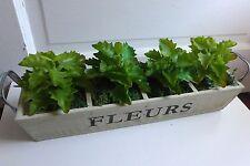 4 Succulents Mini Plants Artificial Leaves Plastic Grass (Green)