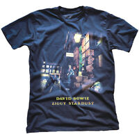 DAVID BOWIE Ziggy Stardust T-shirt Blue NEW OFFICIAL All Sizes Spiders From Mars