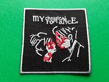 PUNK ROCK HEAVY METAL MUSIC SEW / IRON ON PATCH:- MY CHEMICAL ROMANCE (a) MCR
