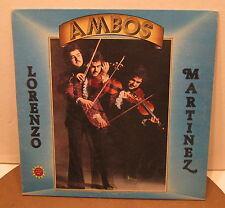 Ambos LORENZO MARTINEZ Tex-Mex Polka VERY RARE Phonograph Record Album LP