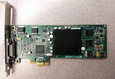 Matrox Millennium G550 video card G55-MDDE32LPDF PCI PCIe x1 w/splitter cable