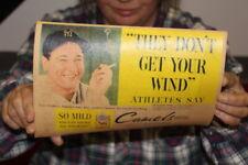 Vintage 1930s Lou Gehrig Camel Cigarettes New York Yankees Baseball Gas Oil Sign
