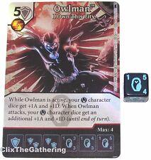 OWLMAN: I OWN THIS CITY 119/124 Batman Dice Masters DC Foil Super Rare