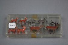 W912MERTEN train figurine Ho 1003 Cerf biche sanglier daim chevreuil diorama