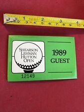 New listing 1989 GUEST BADGE, SHEARSON LEHMAN HUTTON OPEN, GOLF