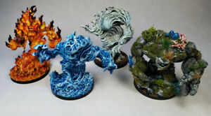 Huge Elemental Earth Fire Water Air Painted miniature / DnD Pathfinder Frostgrav